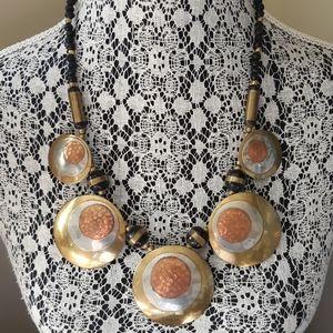 Vintage Oversized Metal Necklace